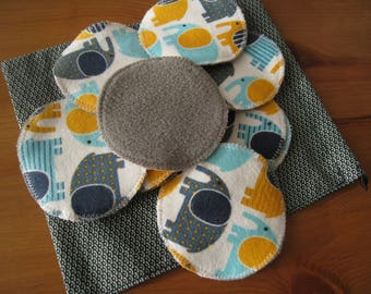 Ecological make-up remover pads (washable)