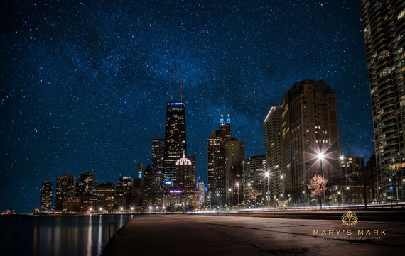 Chicago Canvas Wall Art Decor Print Skyline Cityscape Ready to Hang Gift