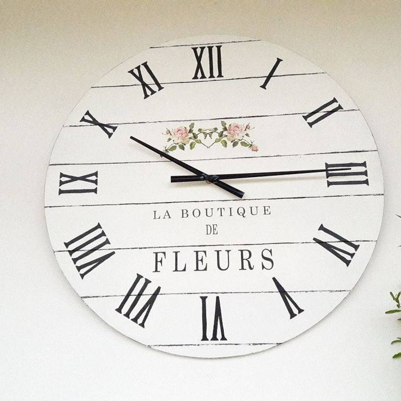 Large Wall Clock 24 Inch Wall Decor Wedding Gifts For Couple Etsy