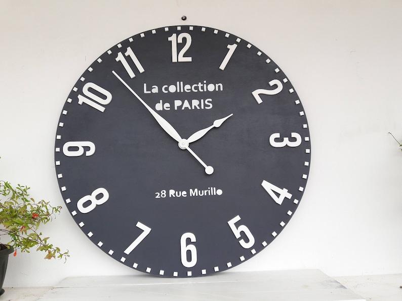 Big Wall Clock 28 Inch Wall Decor Big Round Wall Clocks Etsy