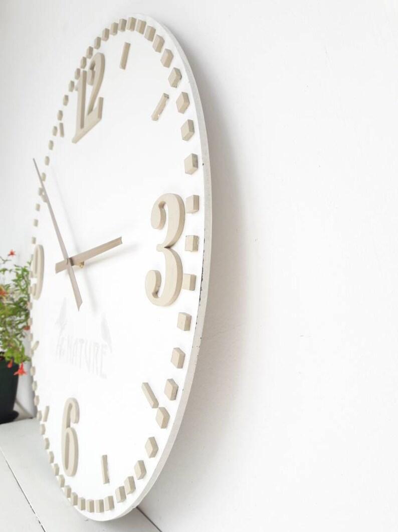 20 Zoll Weiß Wand Uhr Wand Dekor Große Wanduhr Große Uhren Etsy
