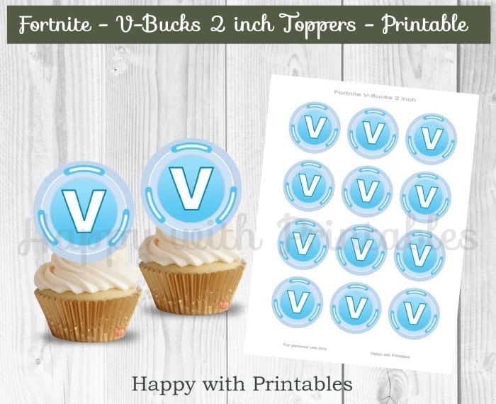 image regarding V Bucks Printable titled Fortgame V-Pounds cupcake Toppers - Fortgame V-pounds printable - Fortgame 2 inch Topper - absolutely free pounds income - Fortgame celebration - Fortgame favors