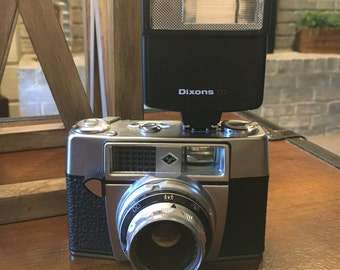 Vintage Agfa Optima 1A 35mm Film Camera with Dixons 177 Flash