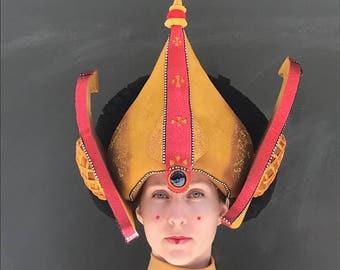 Queen Amidala, Amidala costume, Handmade headdress