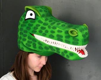 Deluxe Stuffed Plush Alligator Gator Hat Costume Party Cap