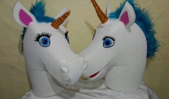 Gorro de unicornio Disfraz unicornio Sombrero  94fac3c681a