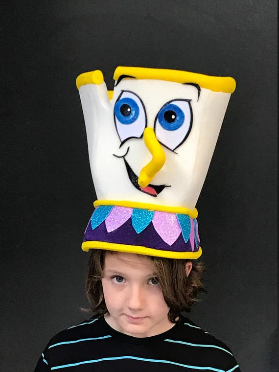Chip Headdress Teacup Costume Beauty And The Beast Theater Etsy