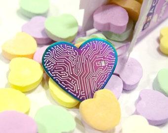 Heart Circuit - Enamel Pin