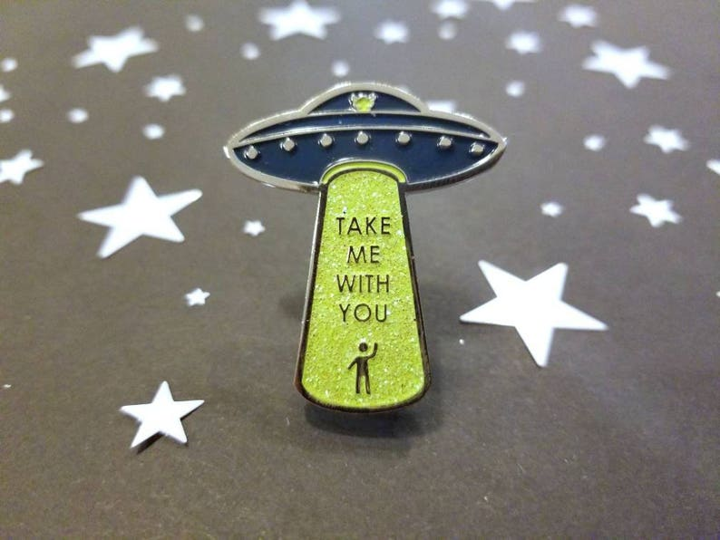 UFO Alien Abduction  Enamel Pin image 0