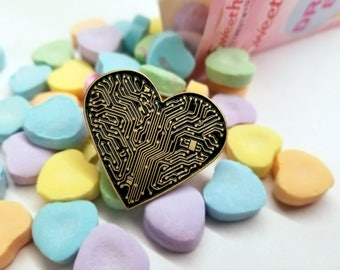 Heart Circuit - Enamel Pin