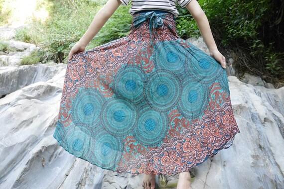 Green clothing Tribal skirt Hippie skirt Rose clothes Flower skirt Haram skirt  Boho skirt Bohemian skirt