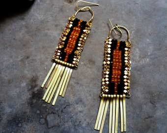 Handcrafted metal earring