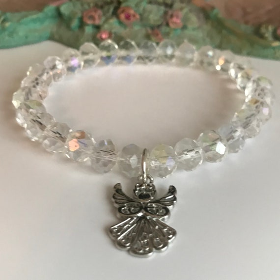 AB Crystal Angel Stretch Bracelet