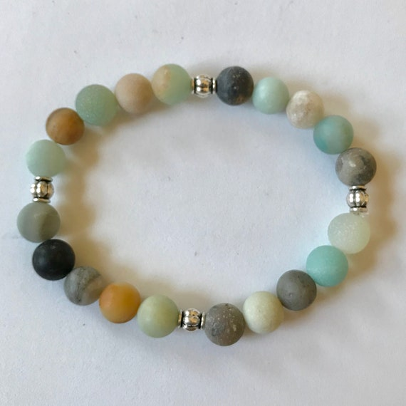 Natural Matte Multicolored Amazonite Bracelet