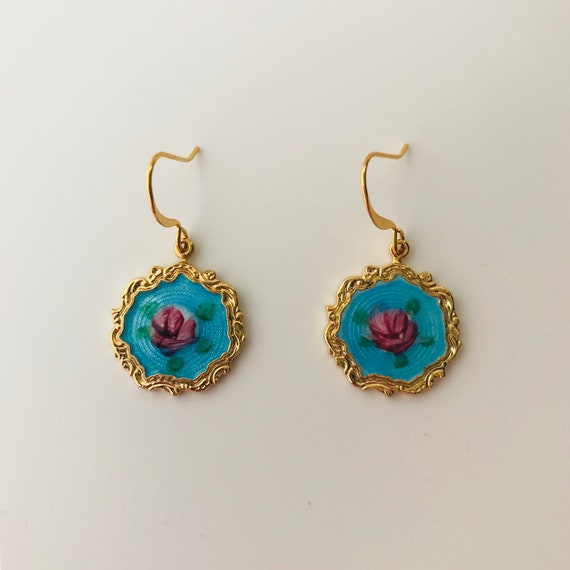 Grandma Grace's Guilloche Victorian Earrings