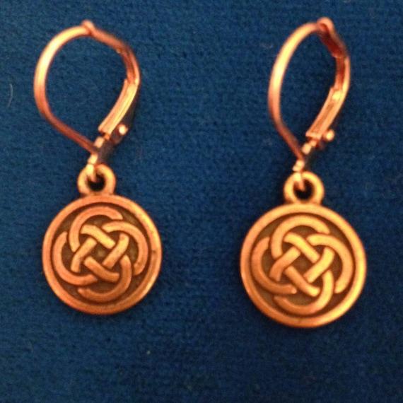 Kate's Copper Celtic Circle Earrings
