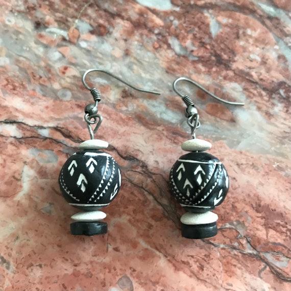Tantalizing Terra Cotta Ethnic Inspired Dangle Earrings