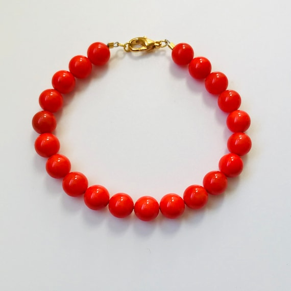 Coral Shell Pearl Bracelet