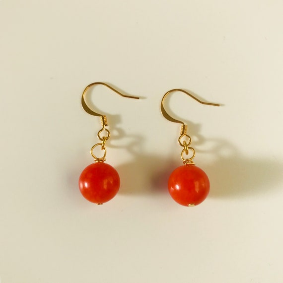 Big Bold Red Agate Earrings