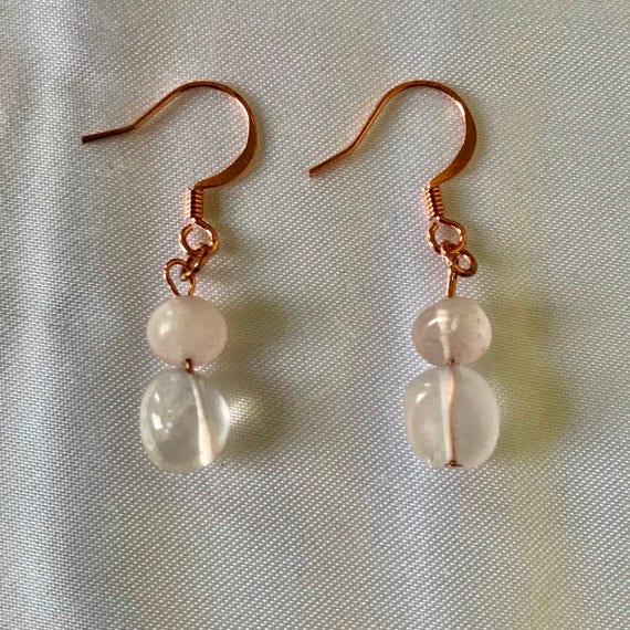 Ronnie's Rose Quartz Dangle Earrings