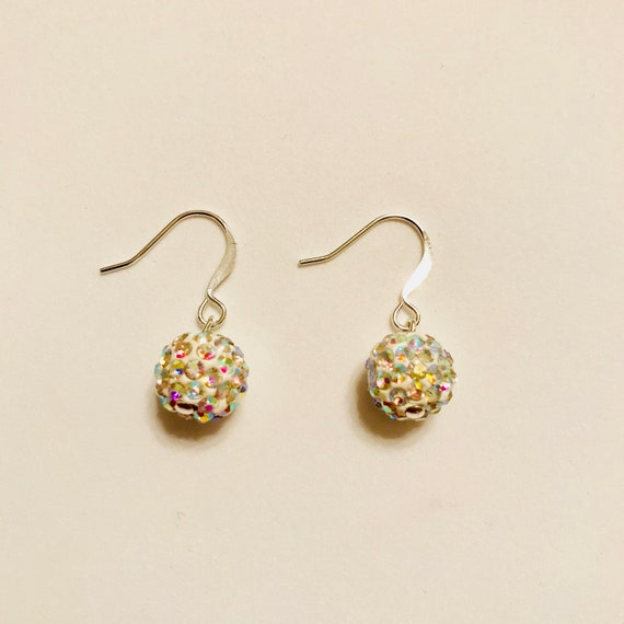 My Crystal Ball Multicolored Sparkling Dangle Earrings