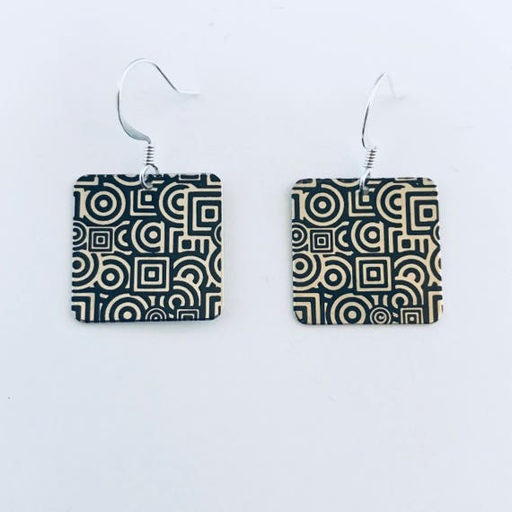 The Geometric Square Artsy Earrings