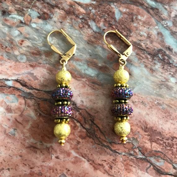 Golden Indian Wedding Earrings