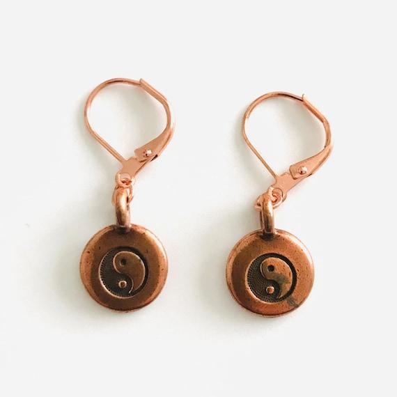 Yin and Yang Dangle Earrings