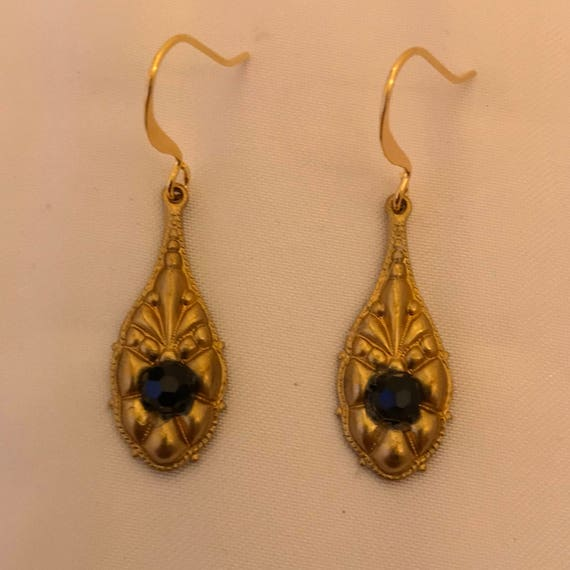 The Brass Victorian Style Dangle Earrings