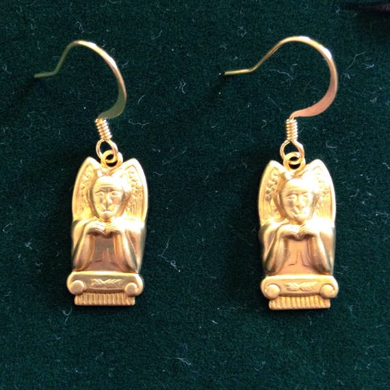 The Golden Gargoyle Dangle Earrings
