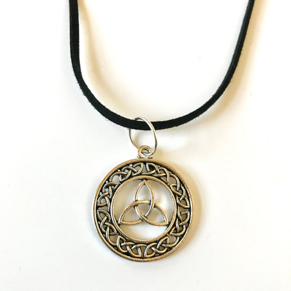 Celtic Circle Trinity Knot Pendant Necklace