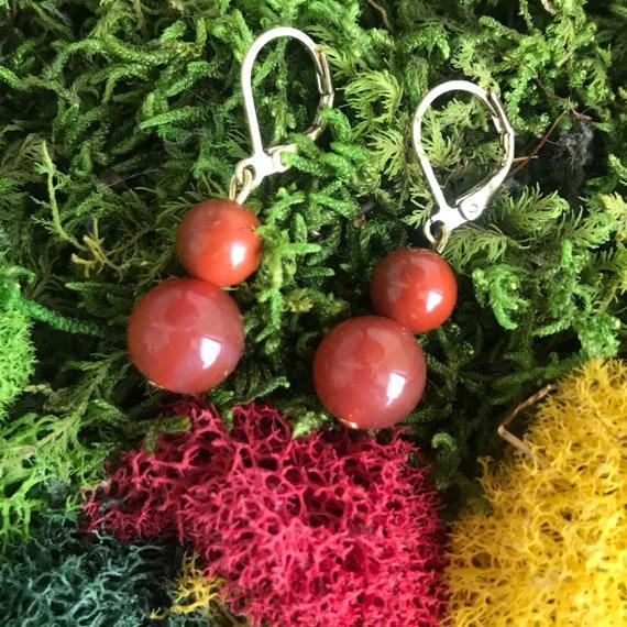 Elegant Carnelian Dangle Earrings