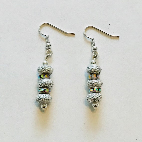 The Silver Sparkle Dangle Earrings