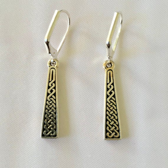 The Celtic Braid Silver Drop Earrings
