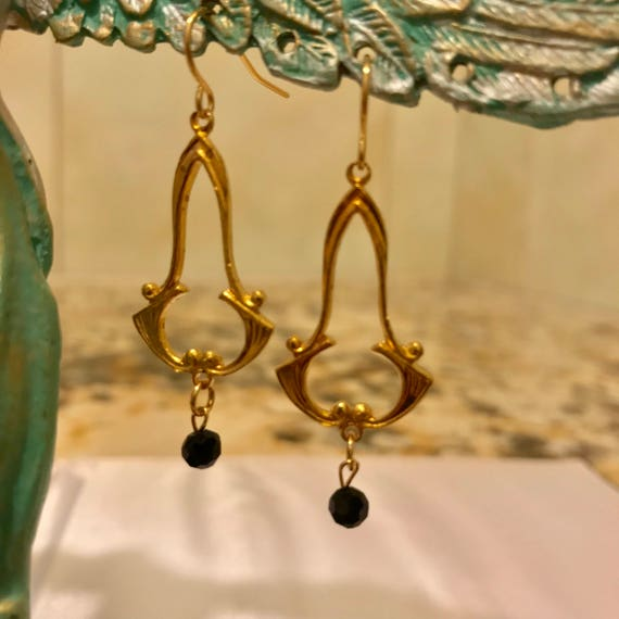Classy Brass Dangle Earrings