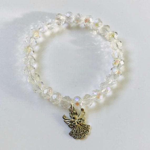 AB Crystal Angel Stretch Bracelet