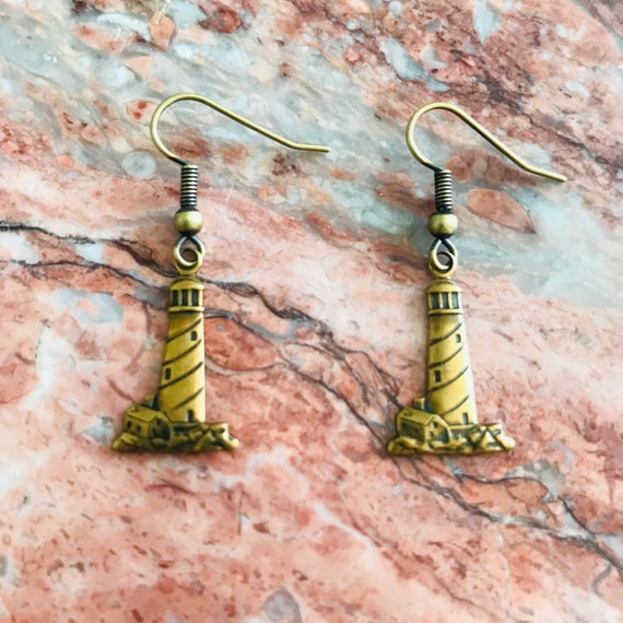 Lighthouse Lover Gold Earrings