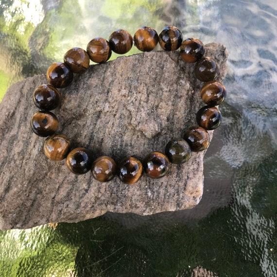 Tigers Eye Stretch Bracelet 10mm Beads