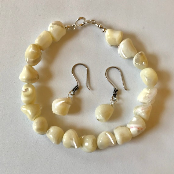 My Mother of Pearl Bracelet and Earring Set