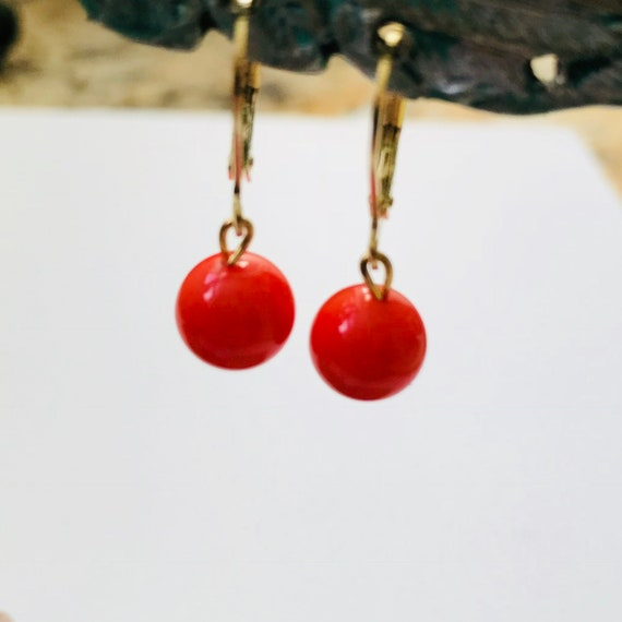 Coral Shell Pearl Earrings
