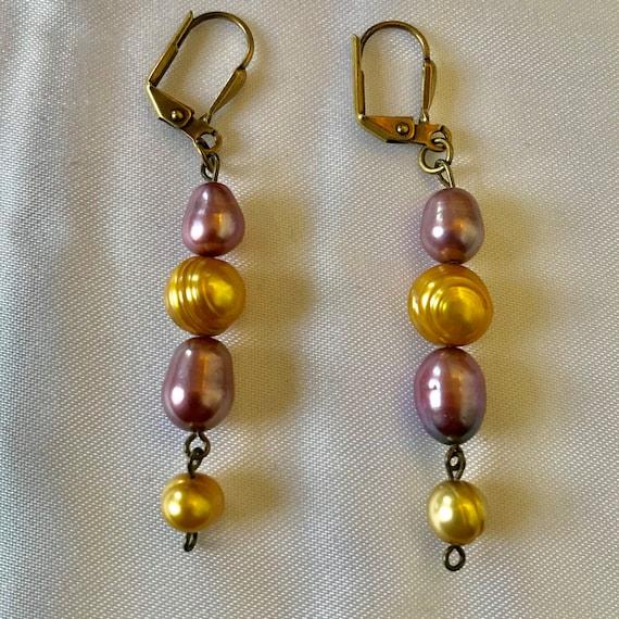 Multicolor Freshwater Pearl Dangle Earrings