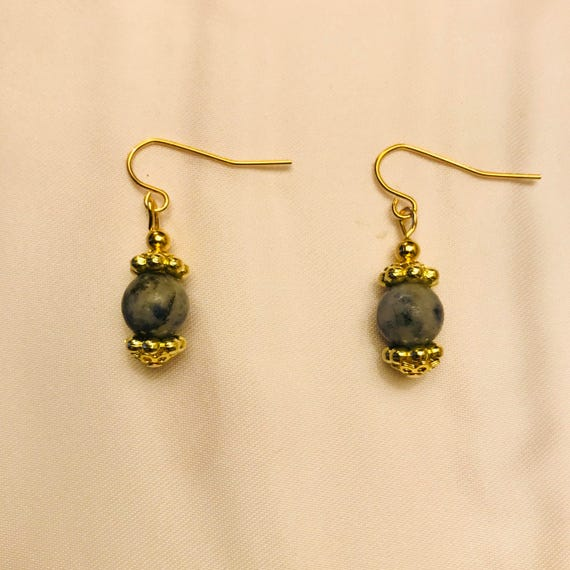 Lapis Lazuli Golden Earrings