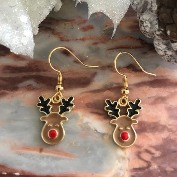 Christmas Reindeer Dangle Earrings