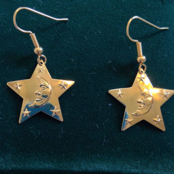 The Star and Moon Dangle Earrings