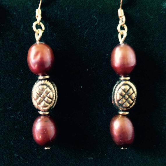 The Bohemian Brown Freshwater Pearl Earrings