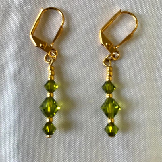 The Jennie Kelly Green Swarovski Crystal Earrings from The CurlanceCreations Irish Collection