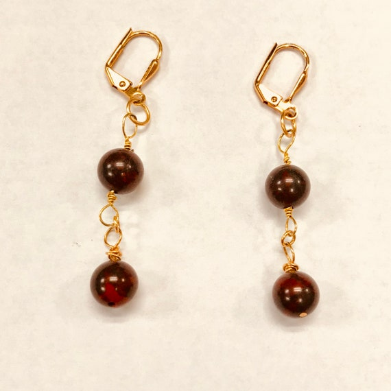 Pat's Poppy Jasper Link Dangle Earrings