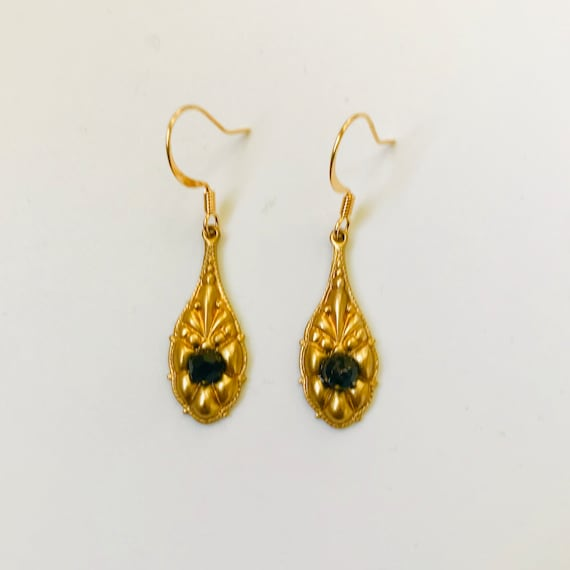 The Brass Victorian Style Dangle Earrings
