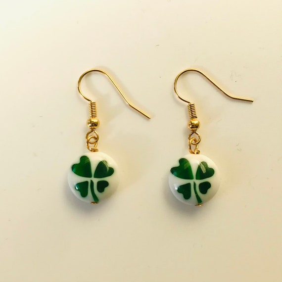 Irish Shamrock Dangle Earrings
