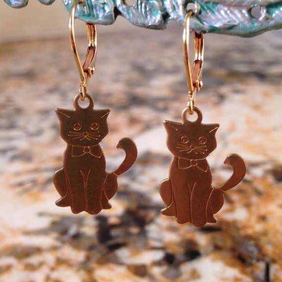 Miss Kitty Cat Earrings